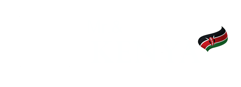 Miss World Kenya logo with flag large horizontal