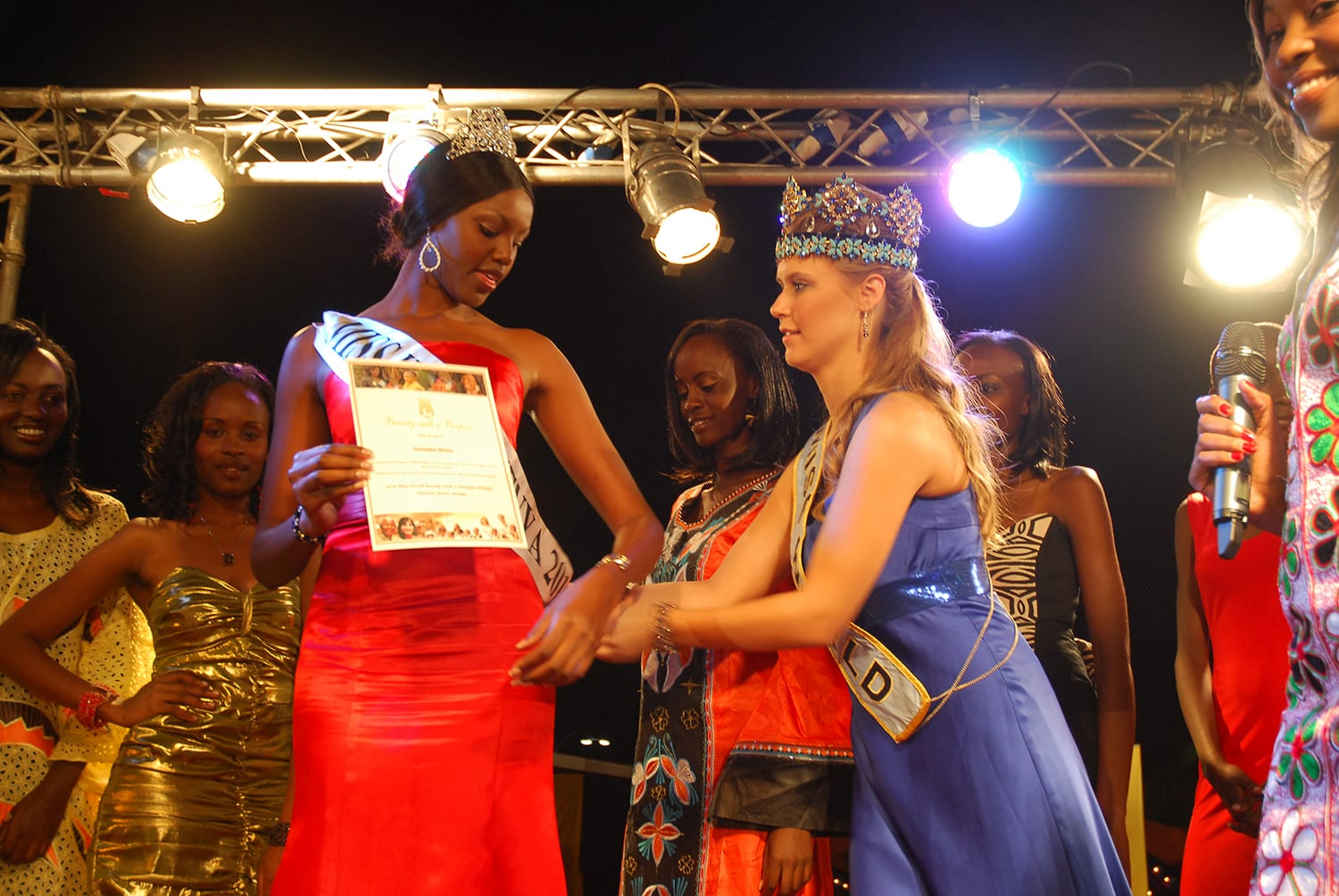 "Kenya representative Natasha Metto won ""Beauty with Purpose Category"""