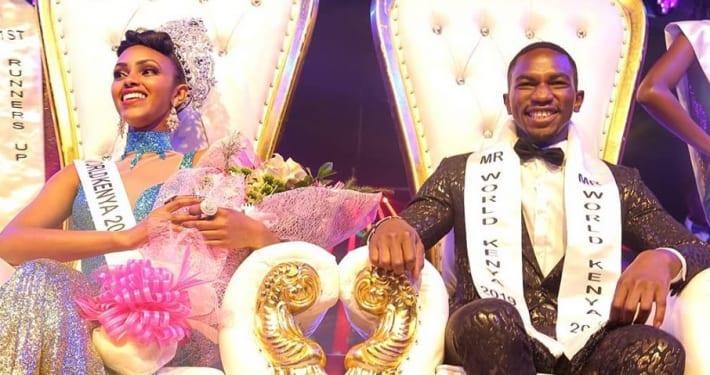 Mr and Miss World Kenya 2019 Winner Maria Wavinya and Franklyne Asoyo
