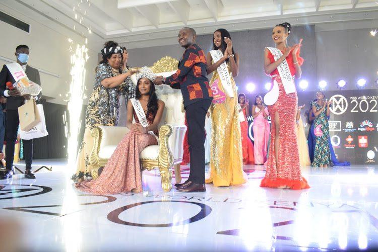 Crowning Miss World Kenya 2021 Sharon Obara